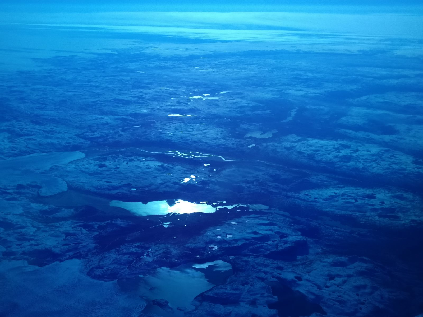 Grönlanti näytti lentokoneesta katsottuna tältä