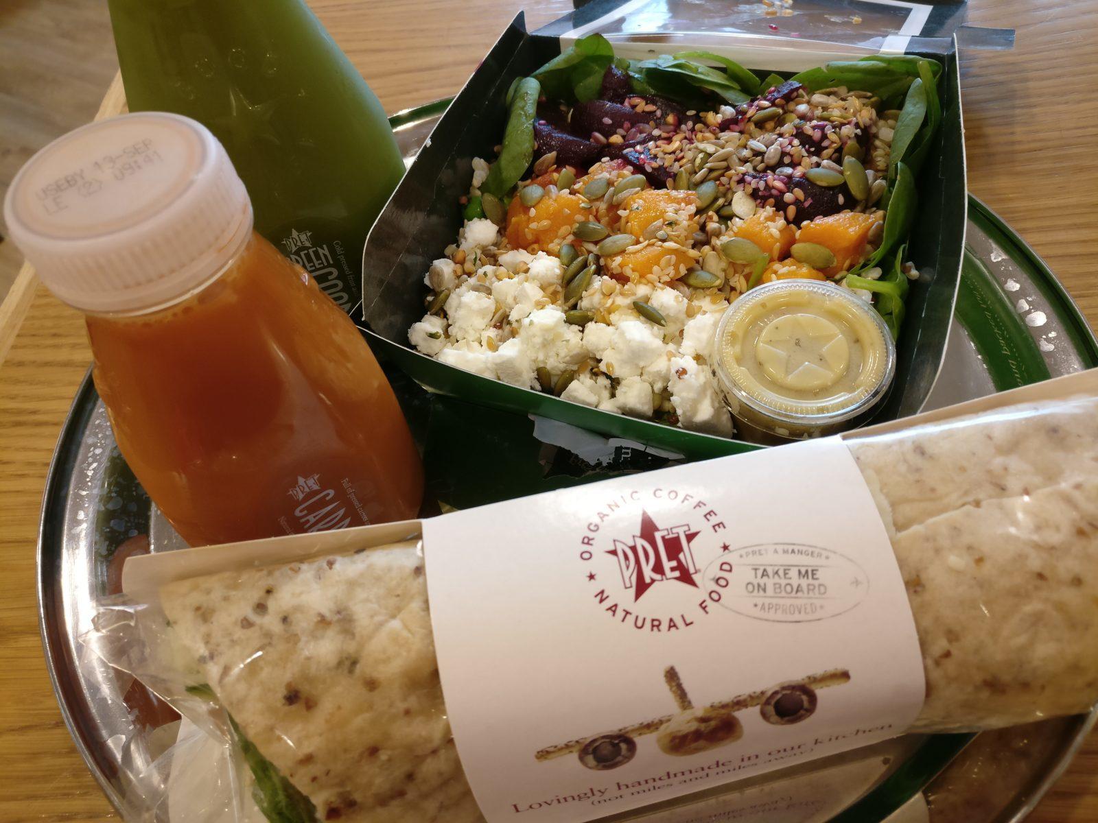 Lontoossa Gatwickin lentokentältä löytyi luomukasvisruokaa lounaaksi