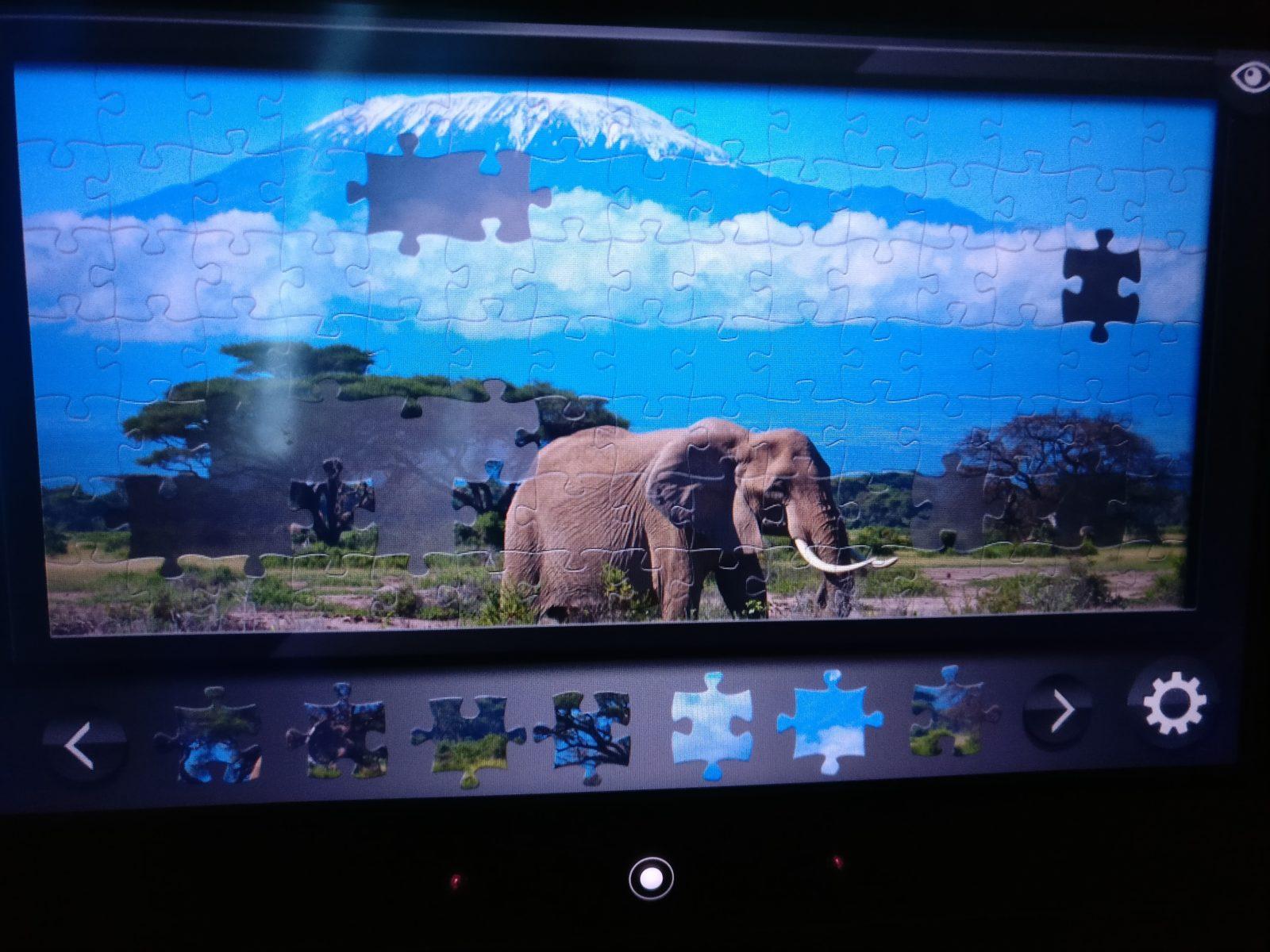 Muutaman virtuaalisen palapelin ehdin lentomatkalla koota