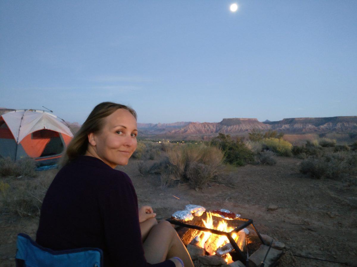 Leirinuotio Utahin erämaassa