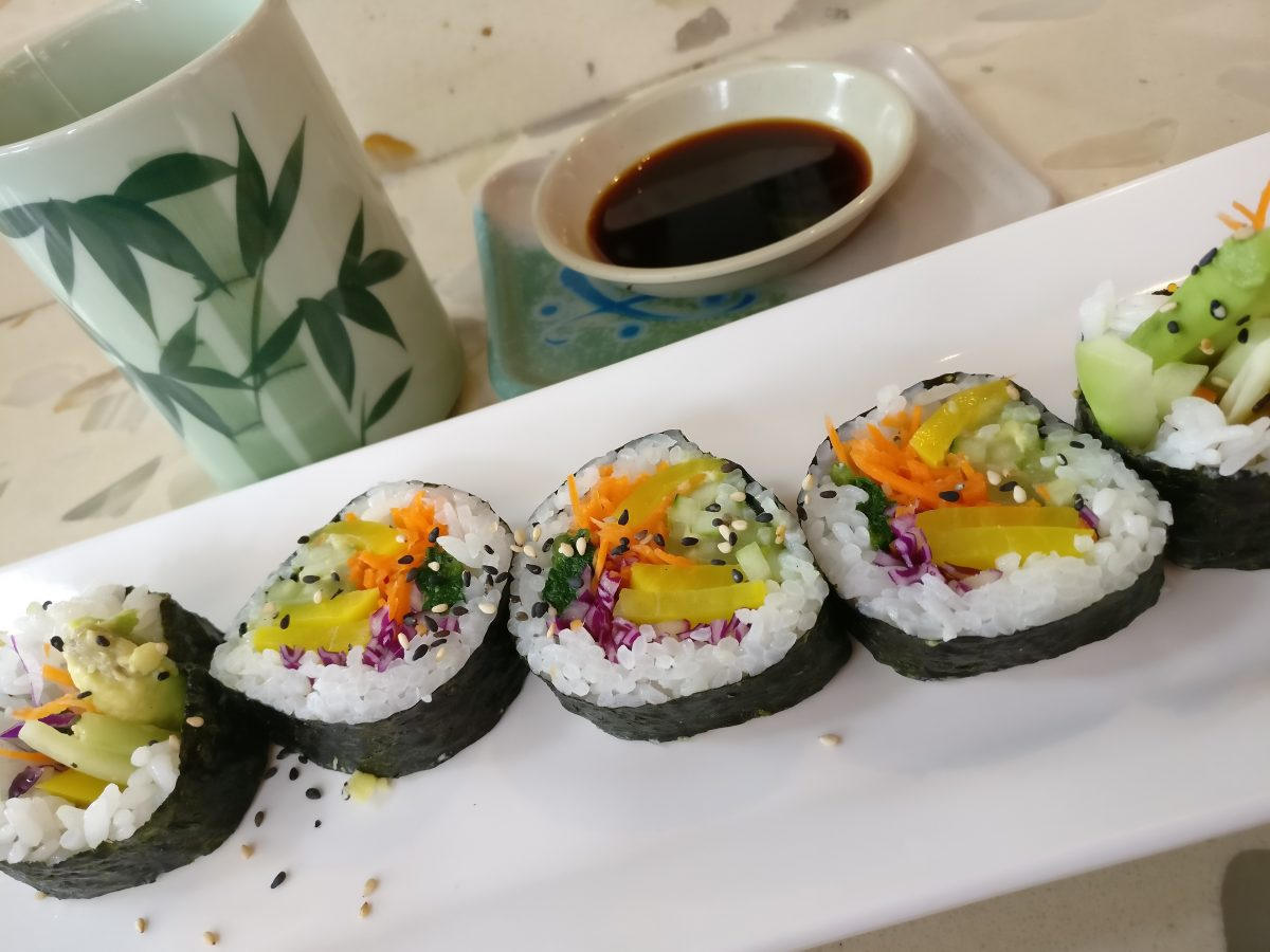 Vegetarian sushi for lunch in San Francisco
