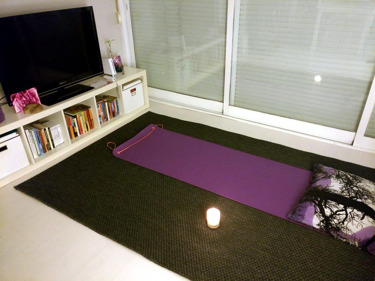 Kotona voi aina meditoida, jos mieli on alavireinen