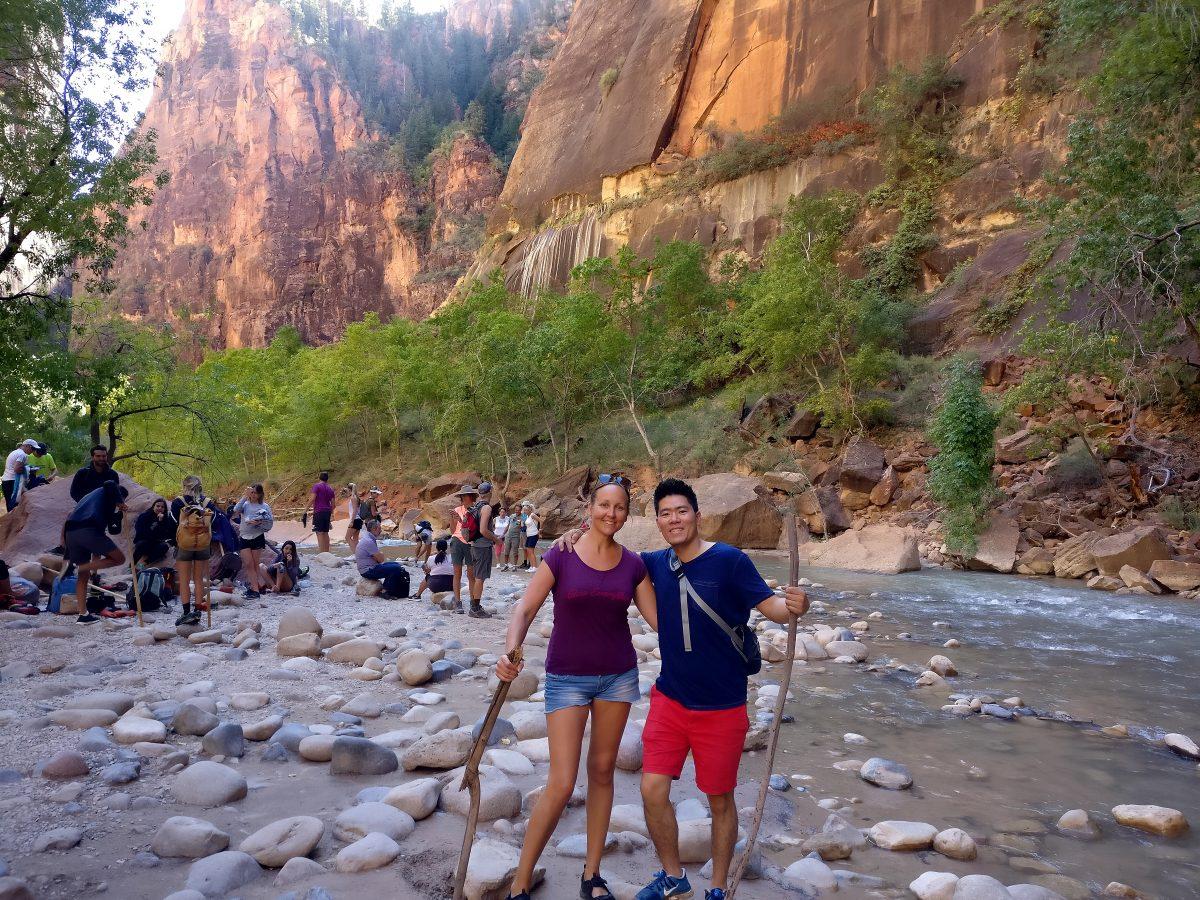 Vaeltamassa Zionin kansallispuistossa Utahissa