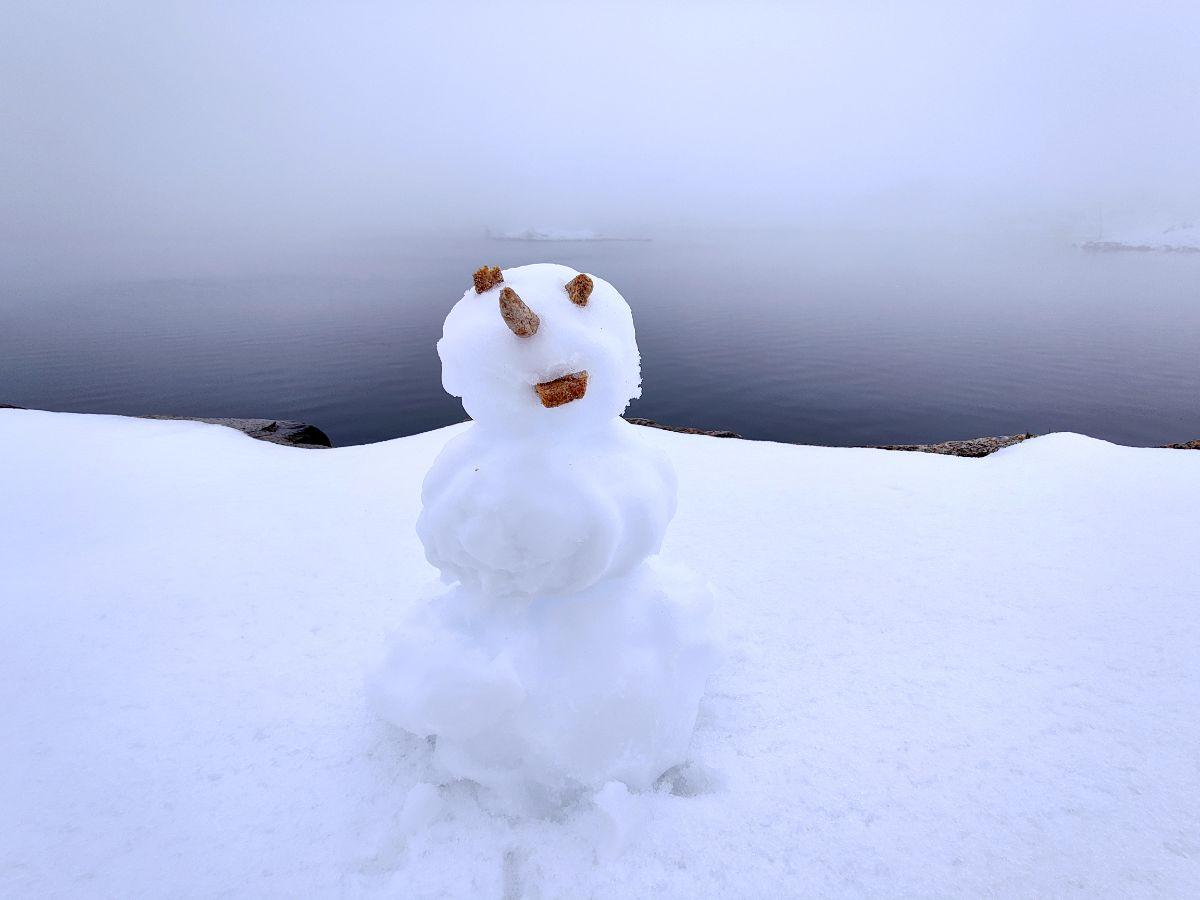 Lumiukko Alpeilla